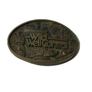 Wild Well Control Solid Bronze Belt Buckle
